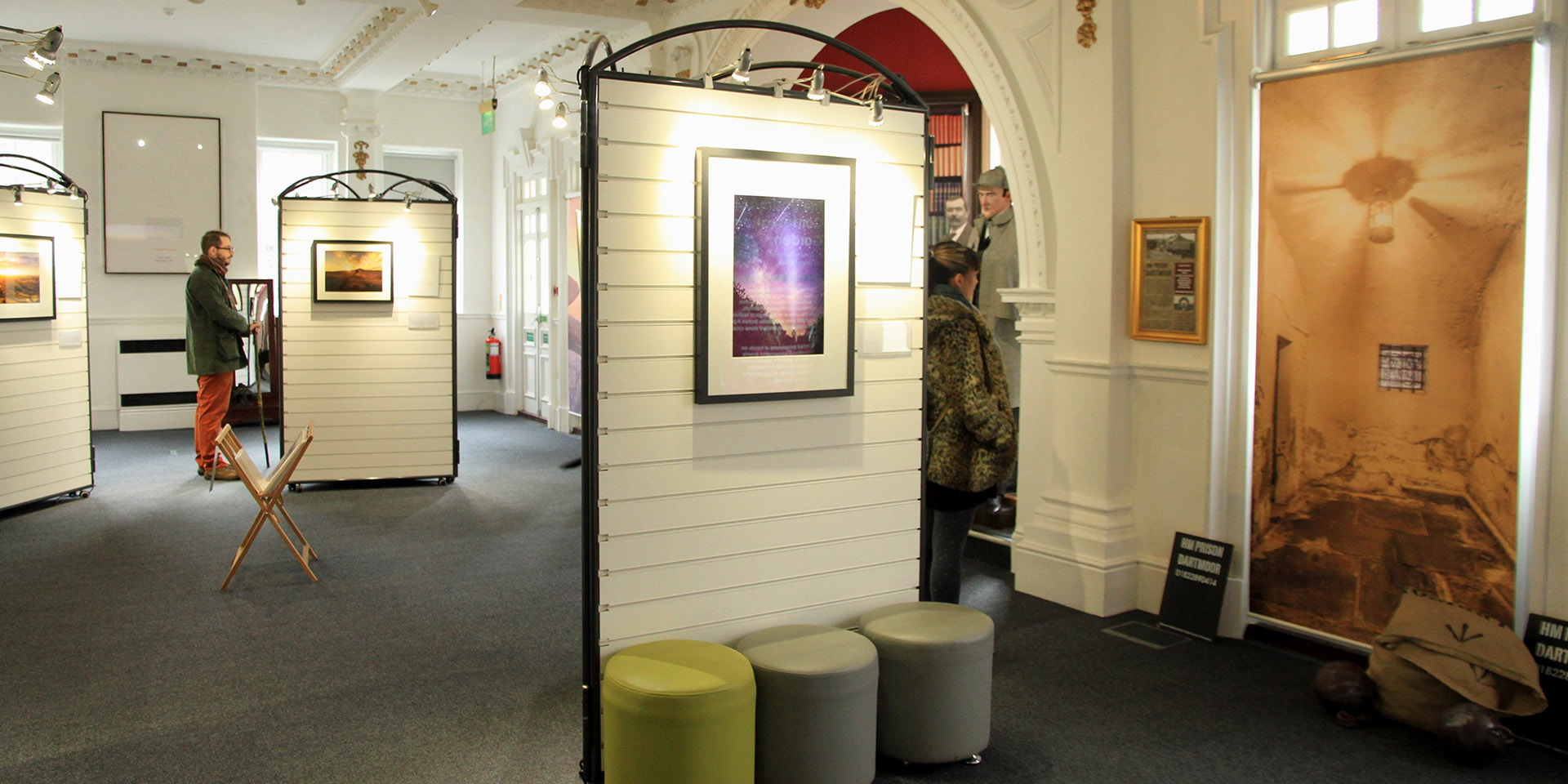 Beauty of Light exhibition in visitor centre ballroom