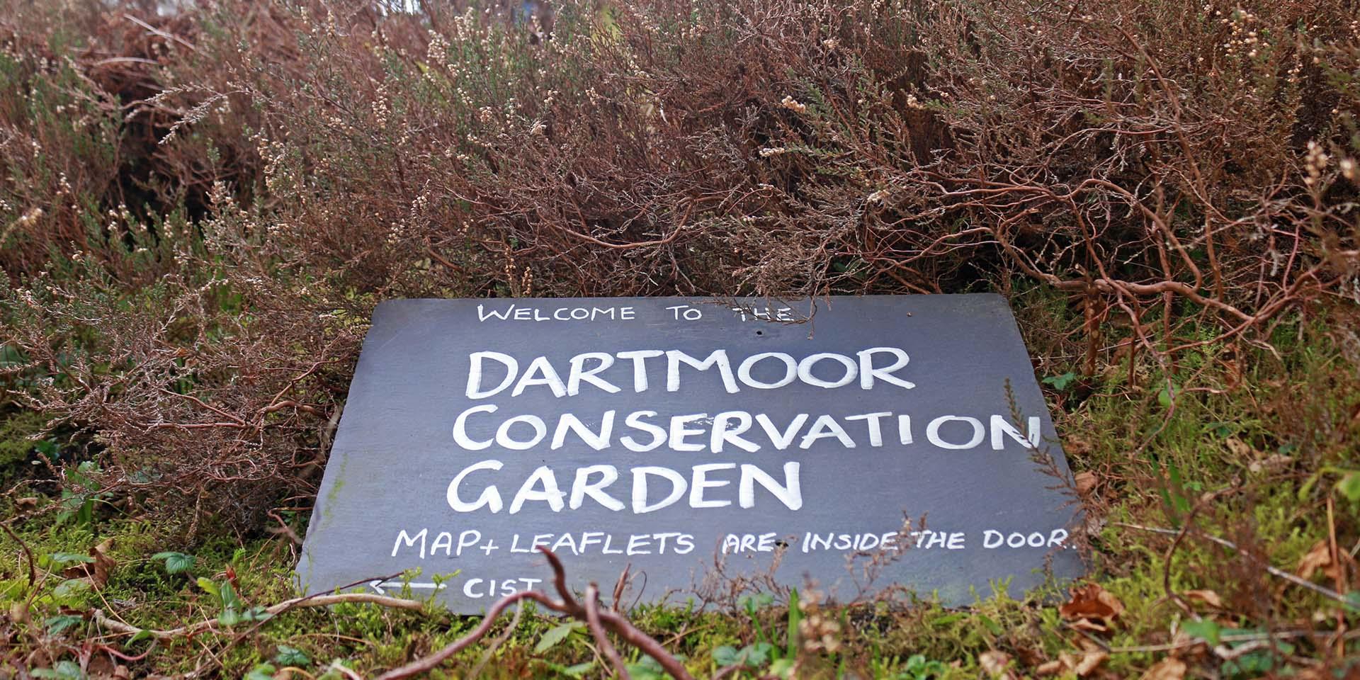 Sign for Dartmoor Conservation Garden