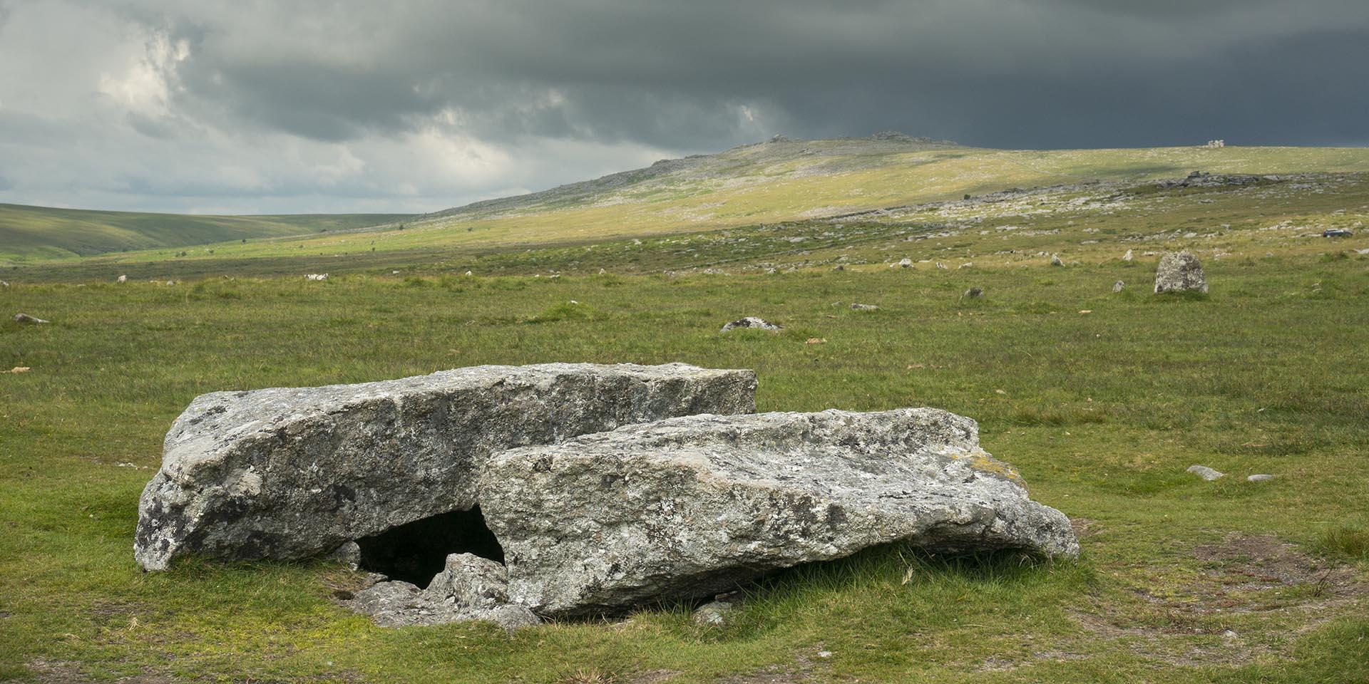 Burial cist at Merrivale