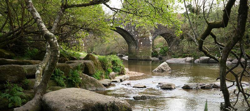 Hexworthy Bridge over river