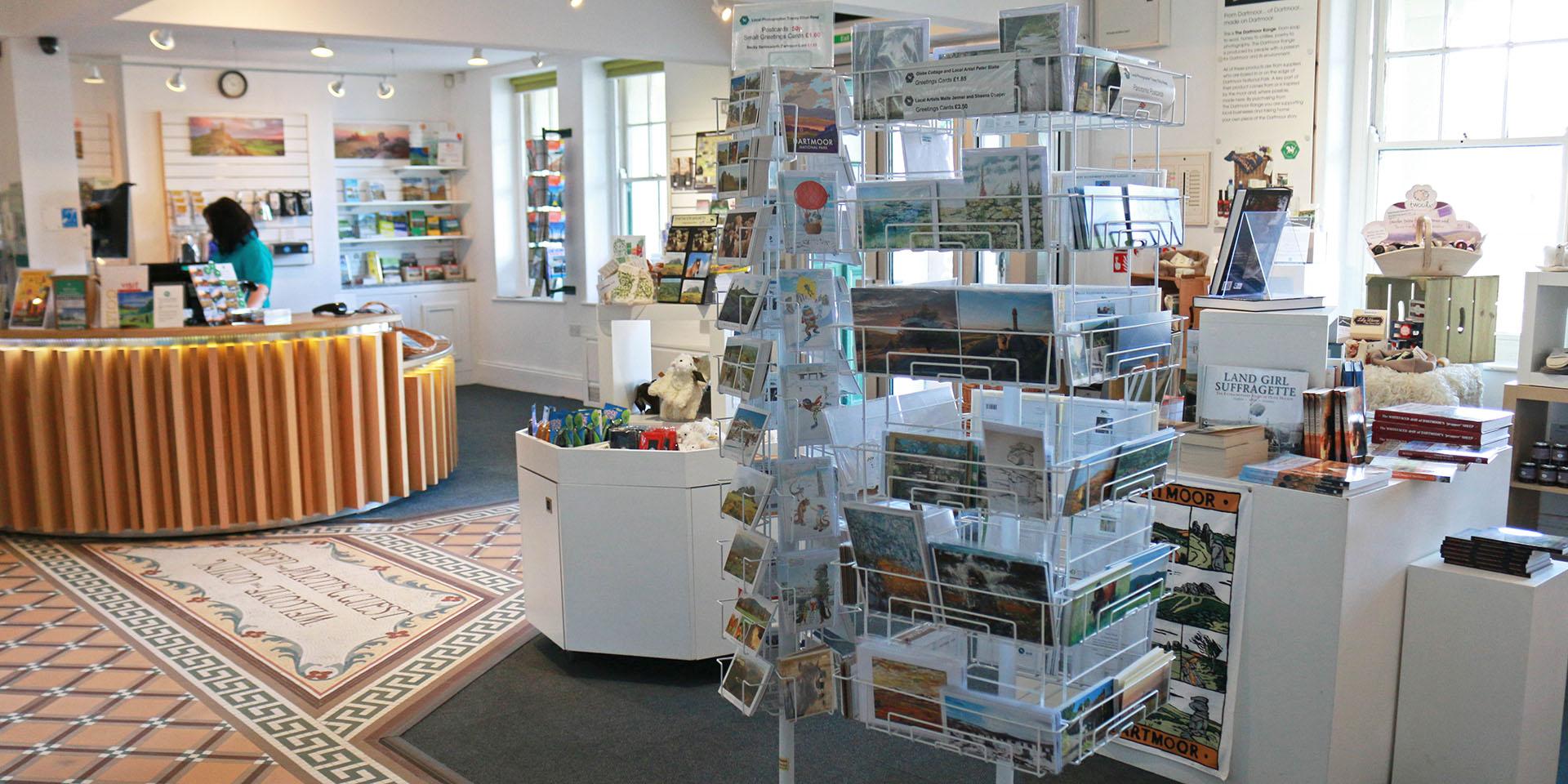 Postcards in visitor centre shop