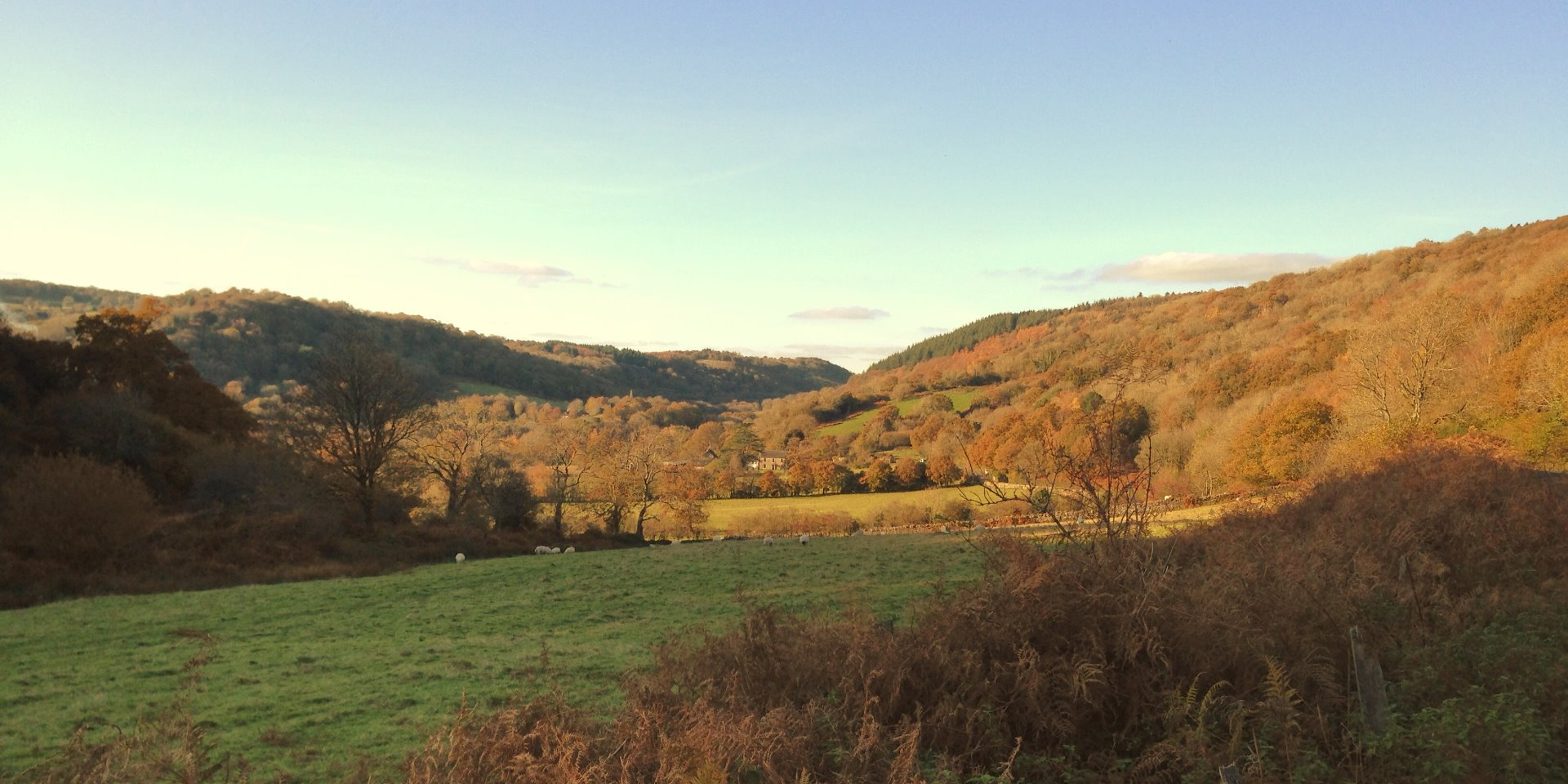 View of the Wray Valley looking from Bovey towards Lustleigh