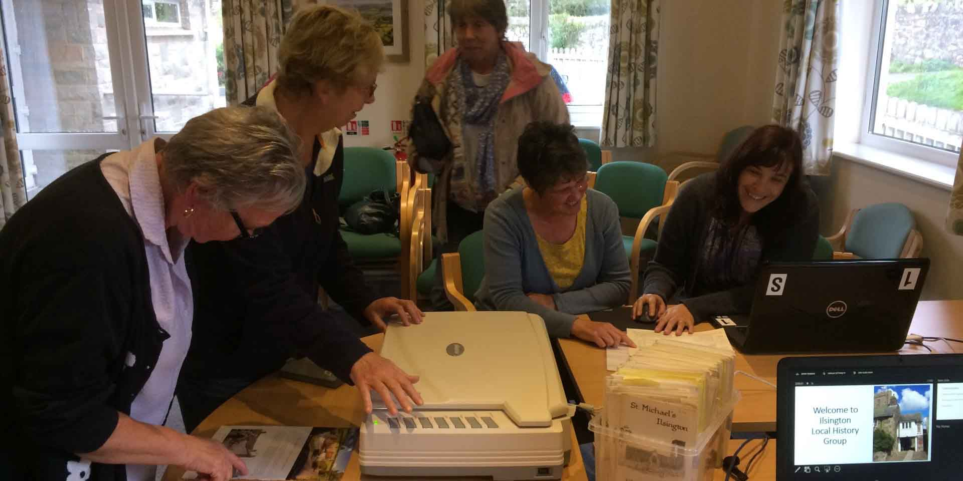 Scanning archive materials with Ilsington History Group