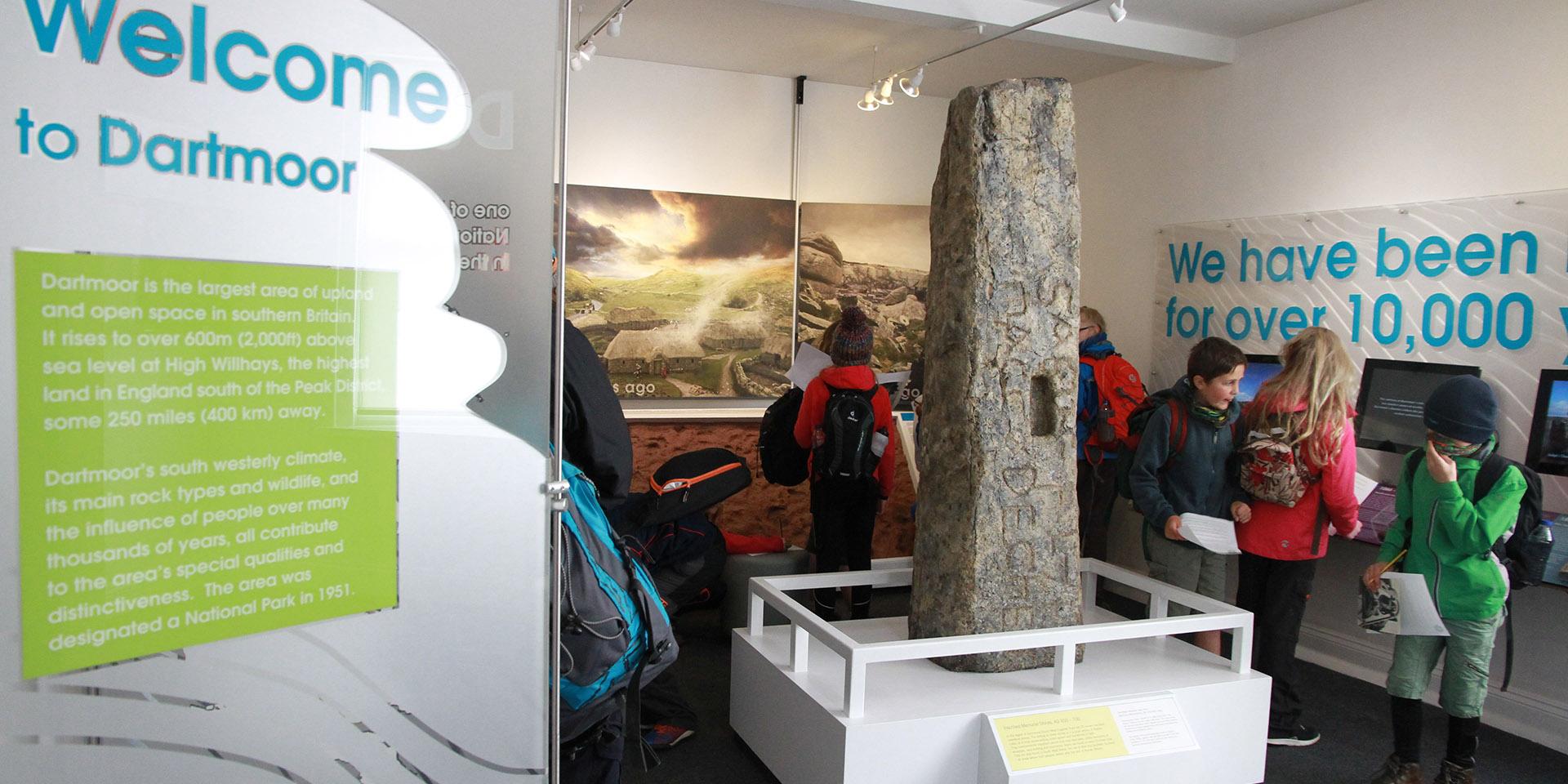 School children exploring bronze age interpretation