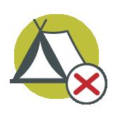 No Camping icon