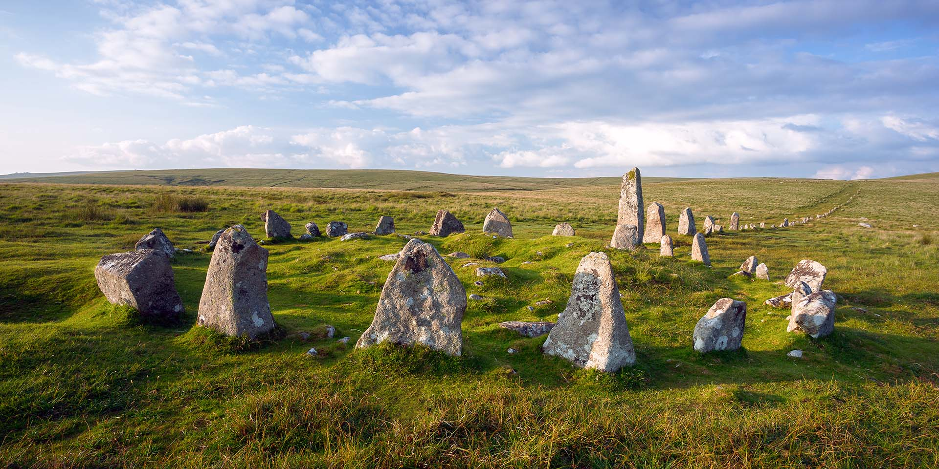 Down Tor stone row and circle by Anna Curnow