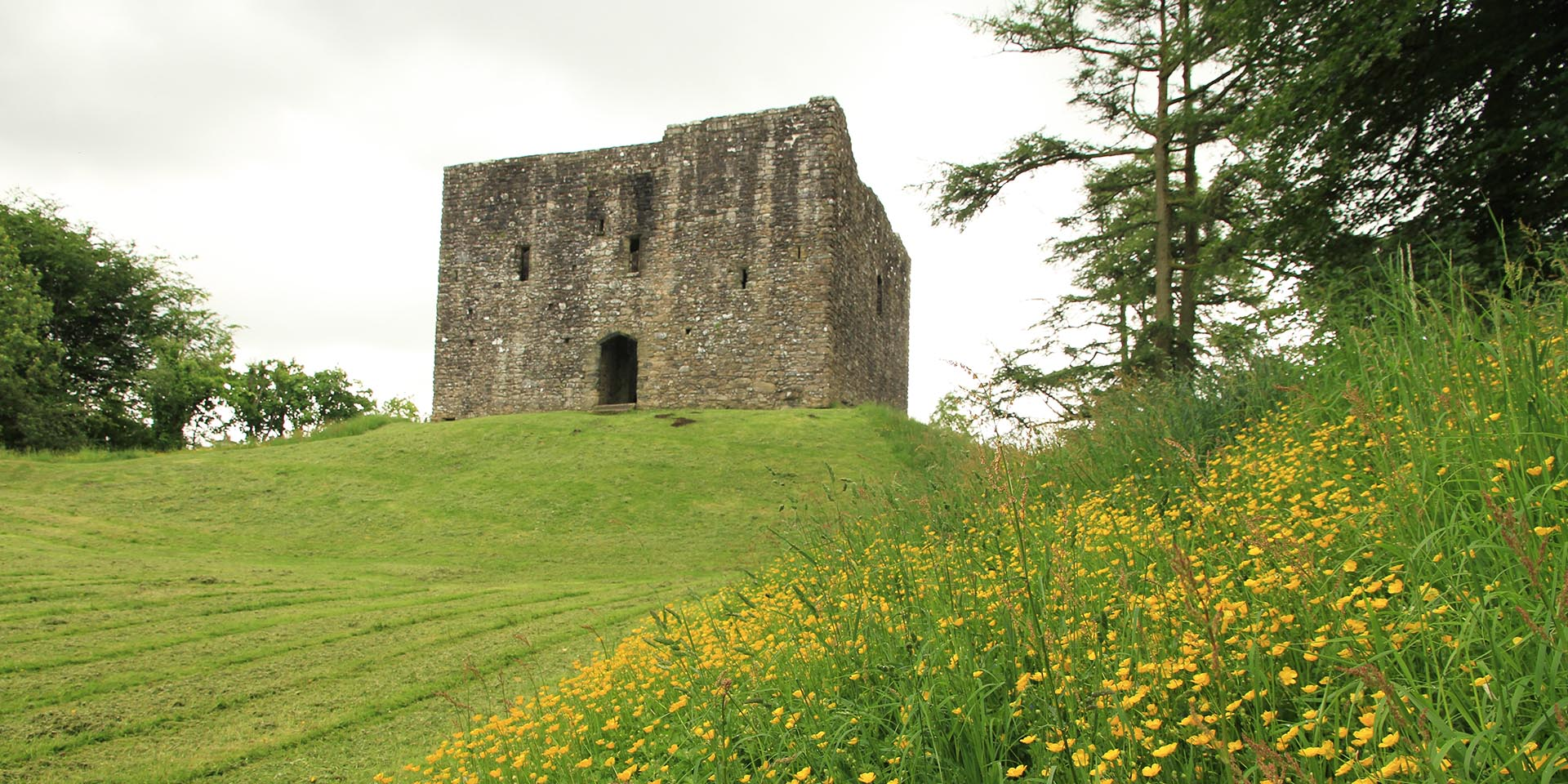 Lydford Castle in grounds