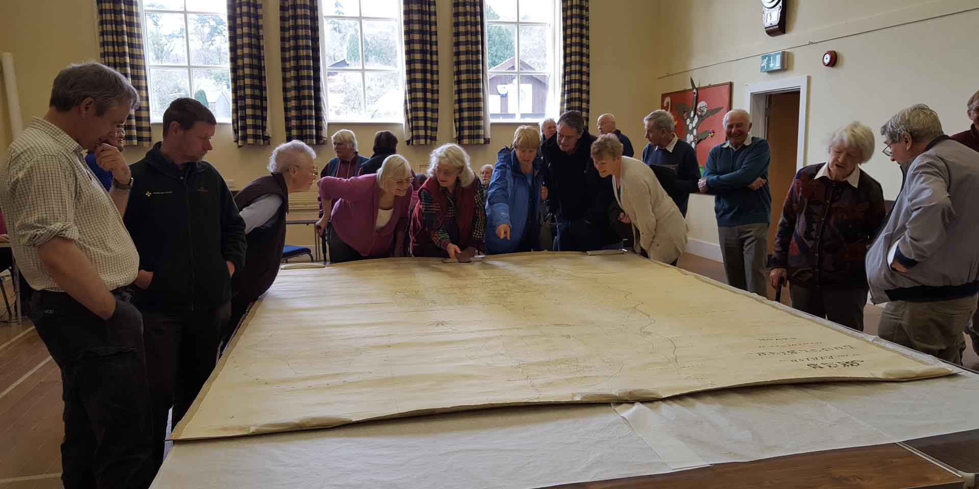 Looking at the Lustleigh tithe map