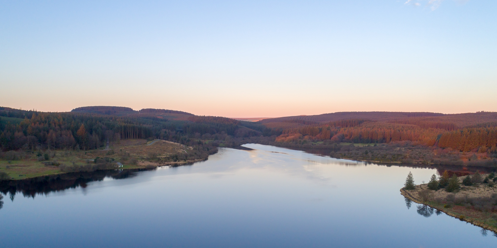 Aerial view of the reservoir by Mark Champion