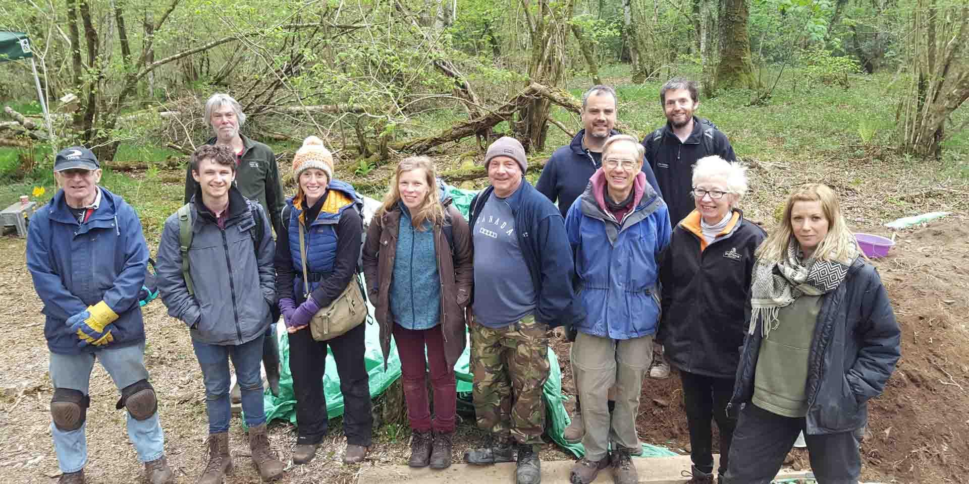 Volunteer team photo at the Vinnimore dig