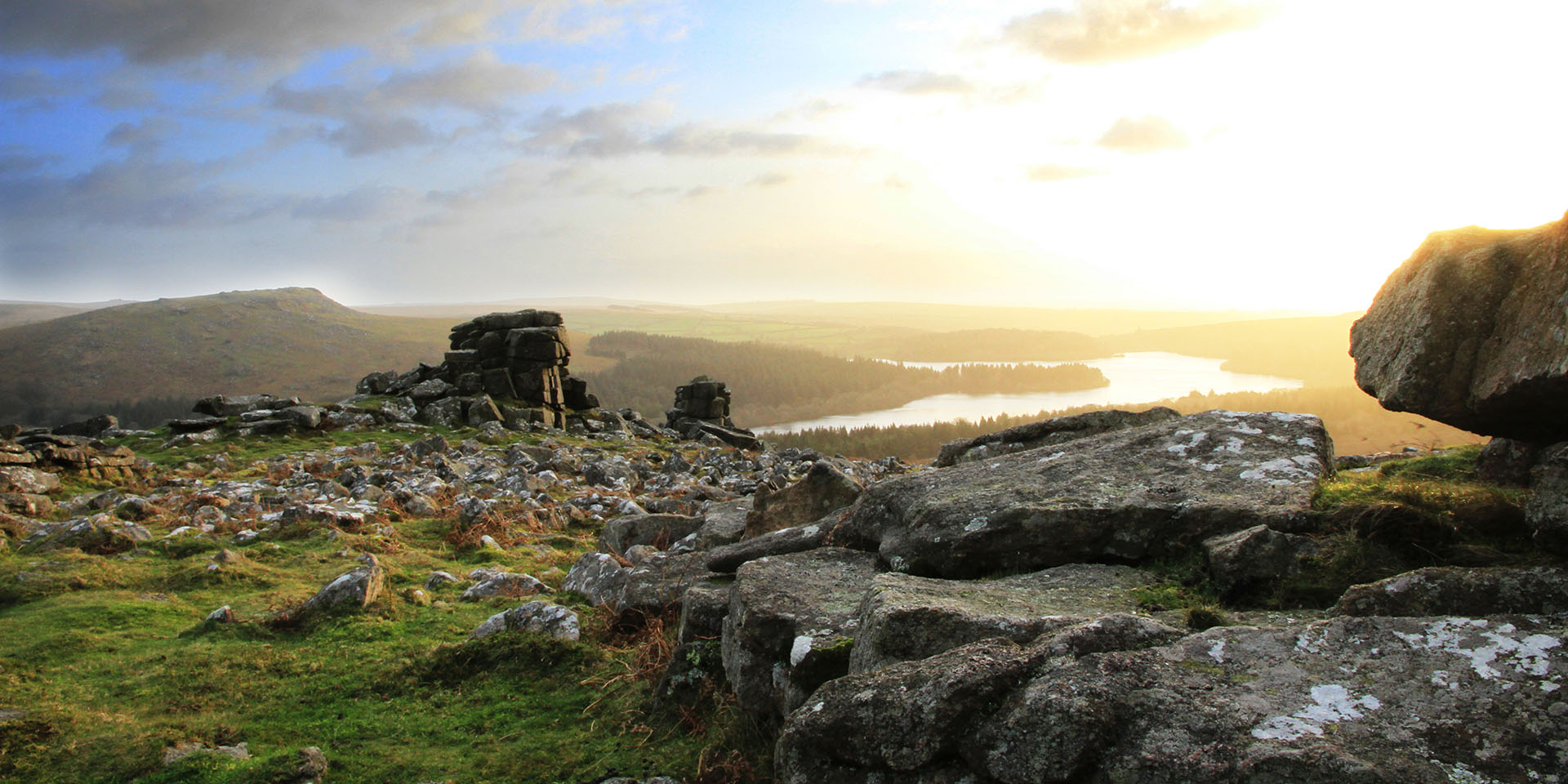 View of Burrator from Leather Tor
