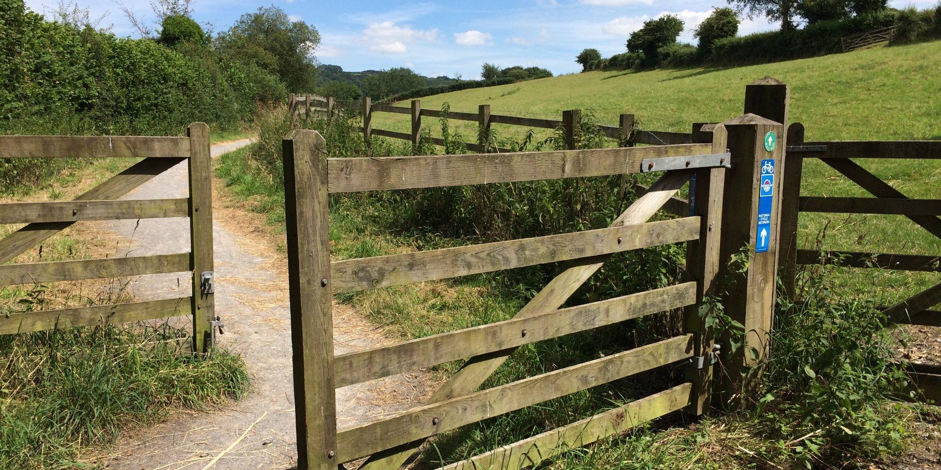 Start of the trail at Pound Lane, Moretonhampstead
