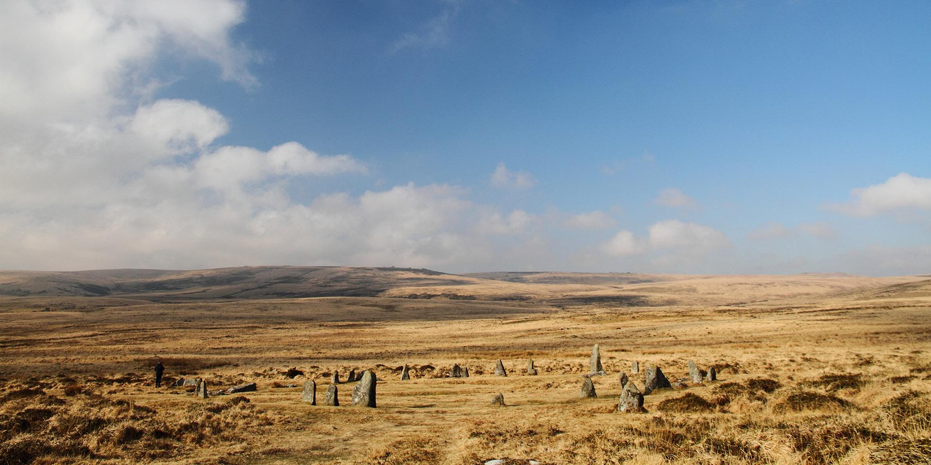 Stone circle at Scorhill