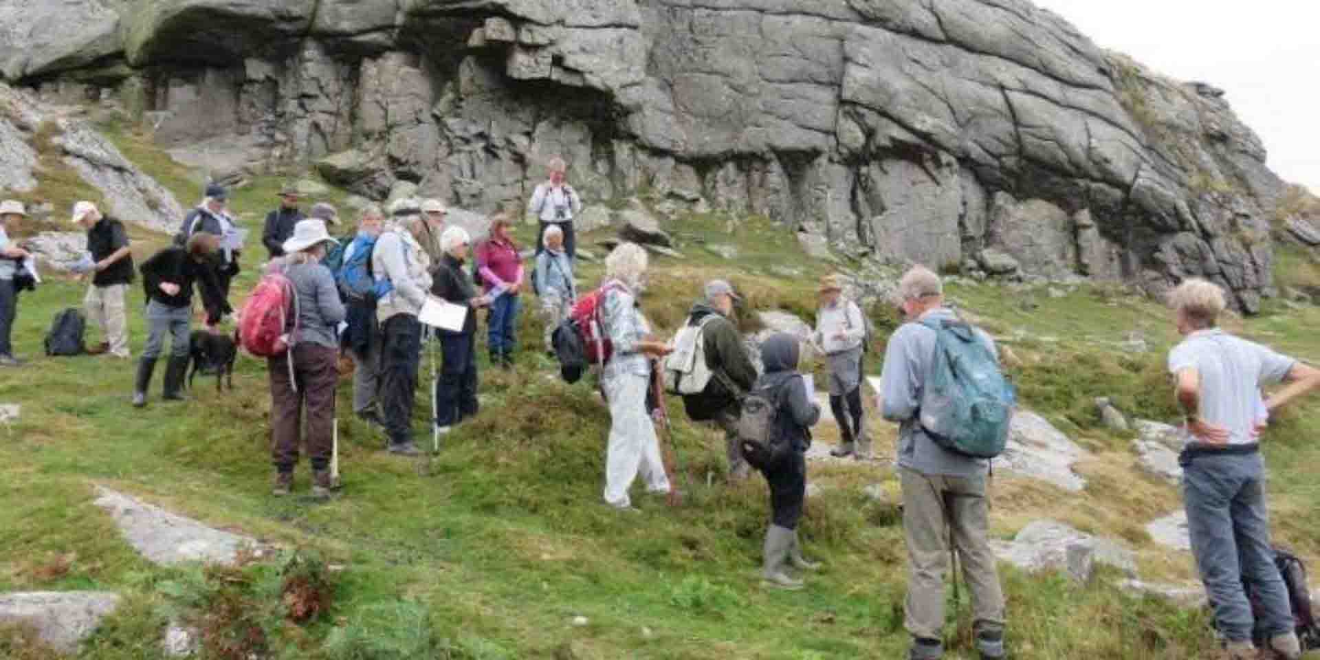 Learning about Haytor's quarries