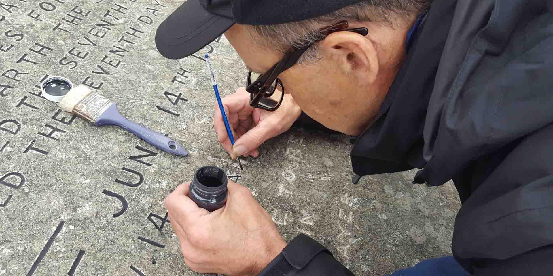 Restoring the ten Commandment Stones