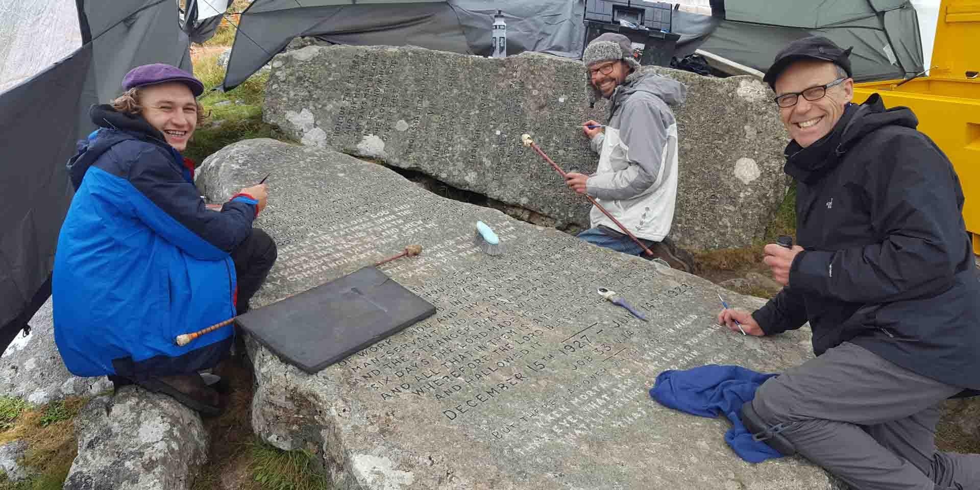 Part of the team that restored the Ten Commandment stones
